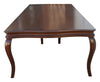 Handmade Large Dining Table with Cabriole Legs and Reeded Apron