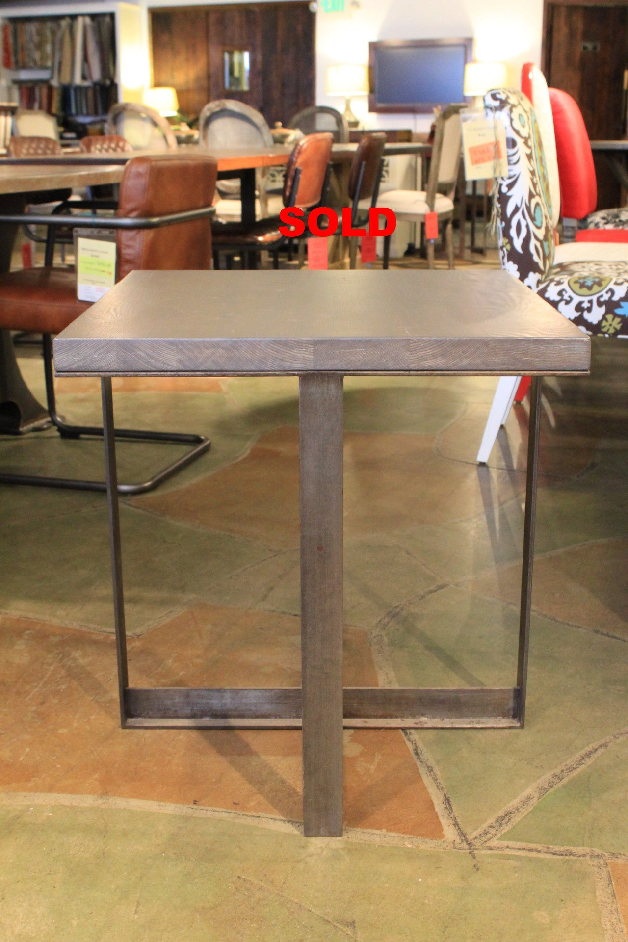 Industrial Modern Side Table