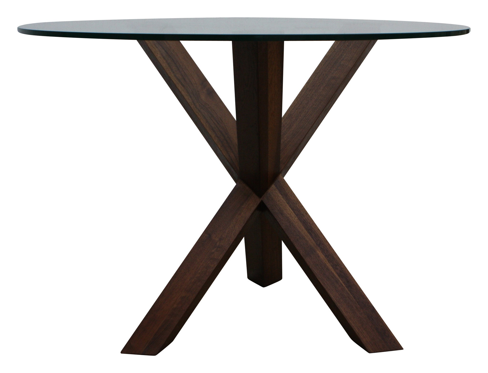 Arden Walnut Table with Glass Top