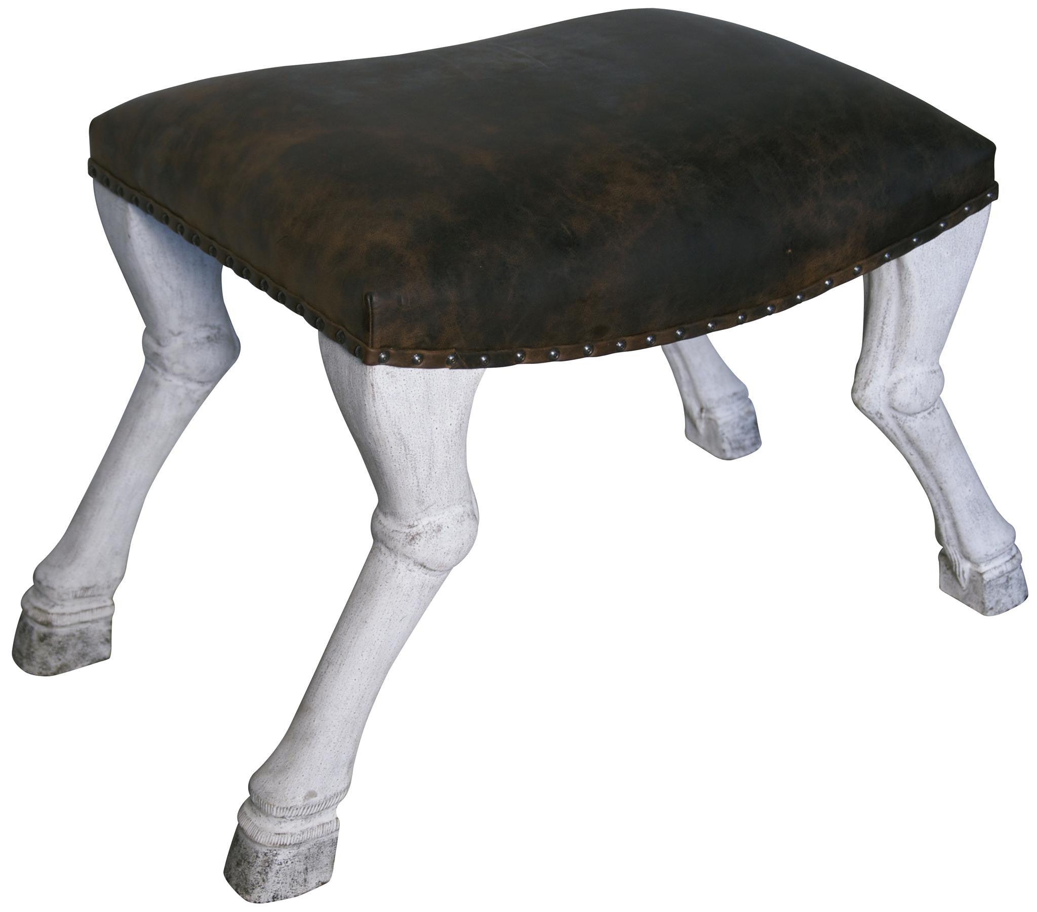 Lux Leather Saddle Stool