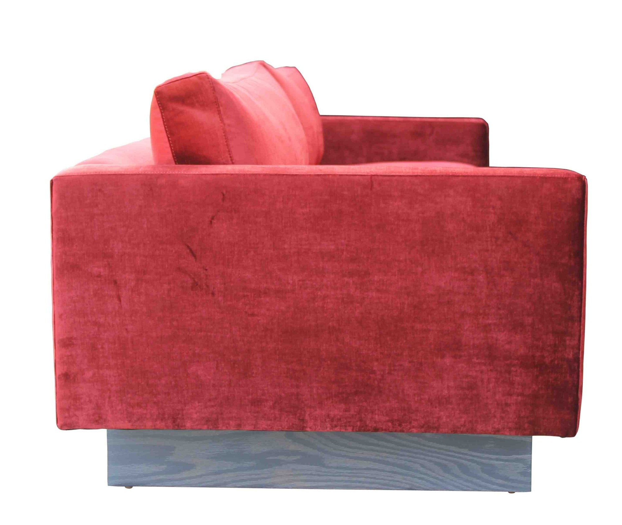 Sexy Tufted Red Sofa Custom Upholstered Home Furnishings