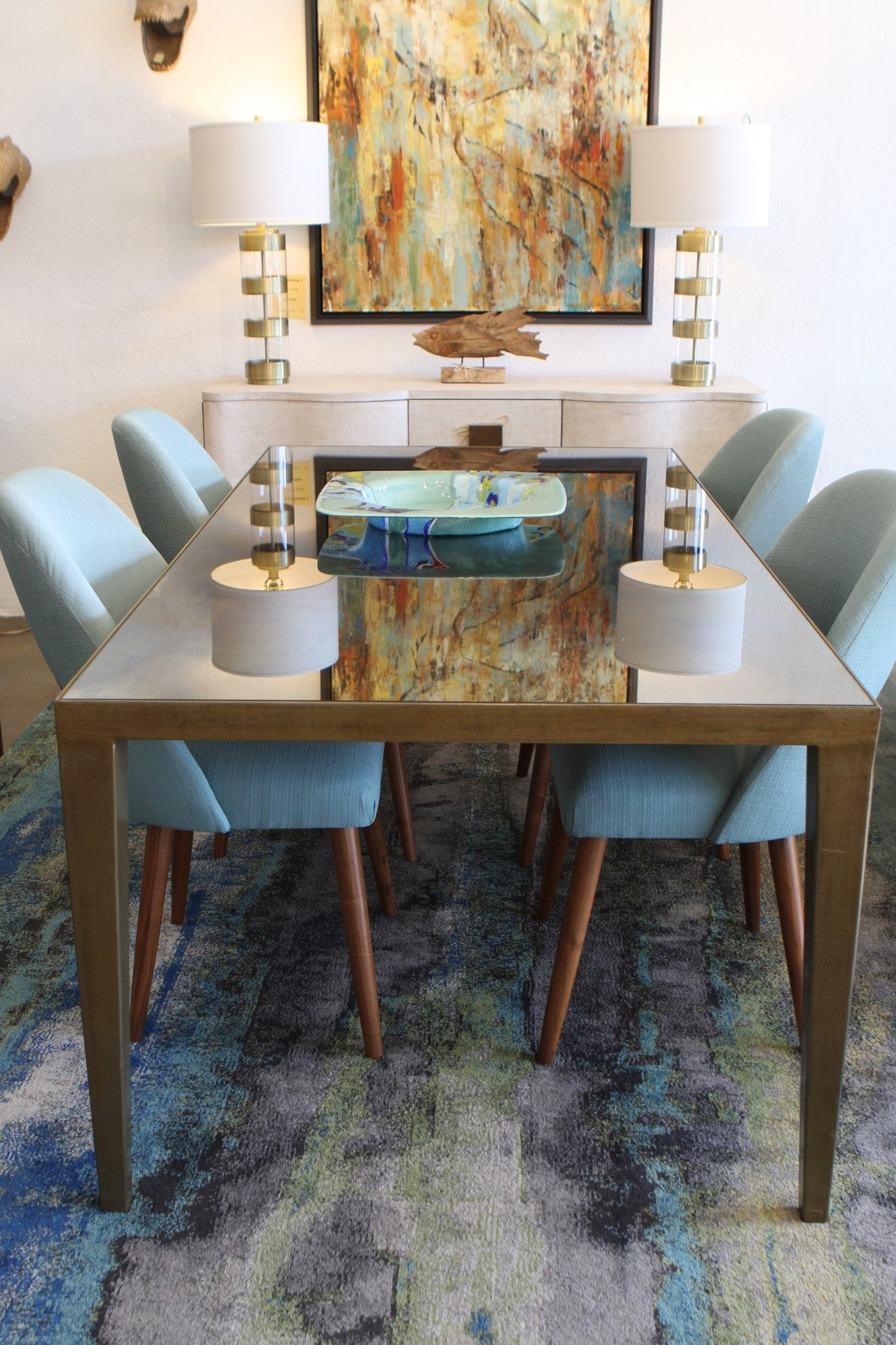Modern Lindsey Dining Table and Lucille Chairs