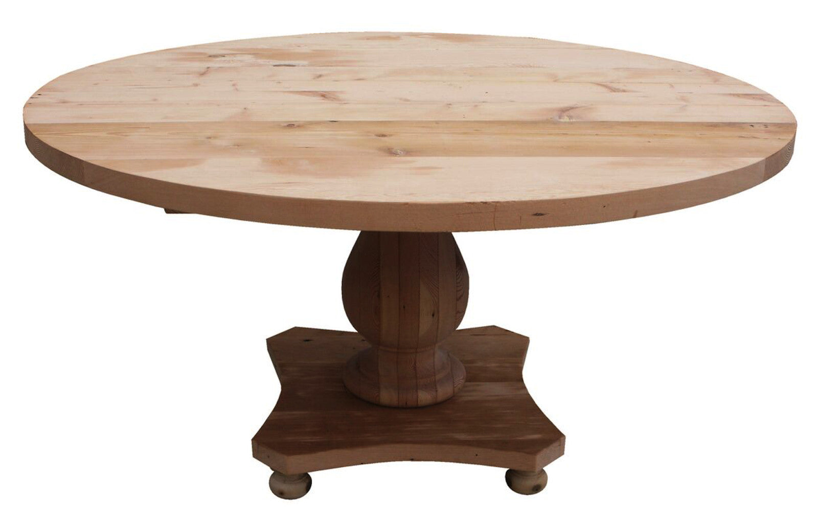 Round Pedestal Salvaged Wood Dining Table Round Pedestal Salvaged Wood  Dining Table