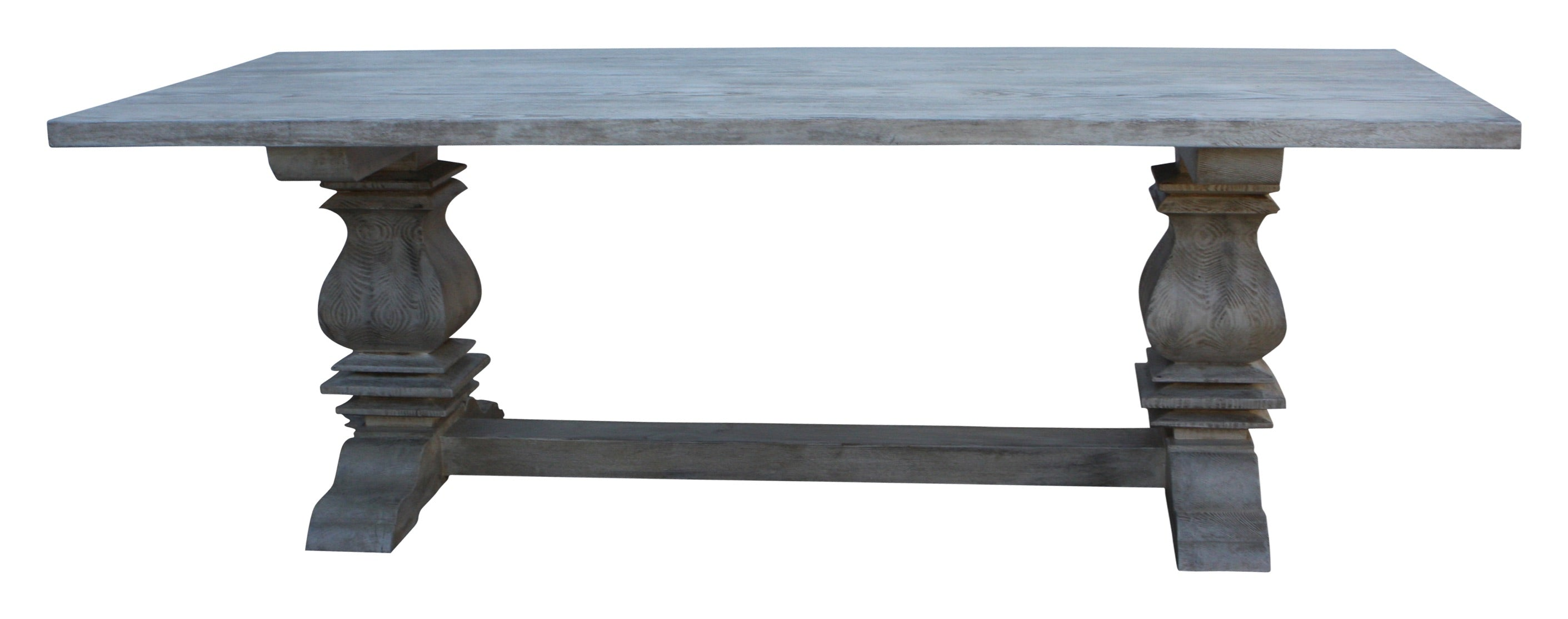... Segovia Reclaimed Wood Trestle Dining Table In Reclaimed Wood ...