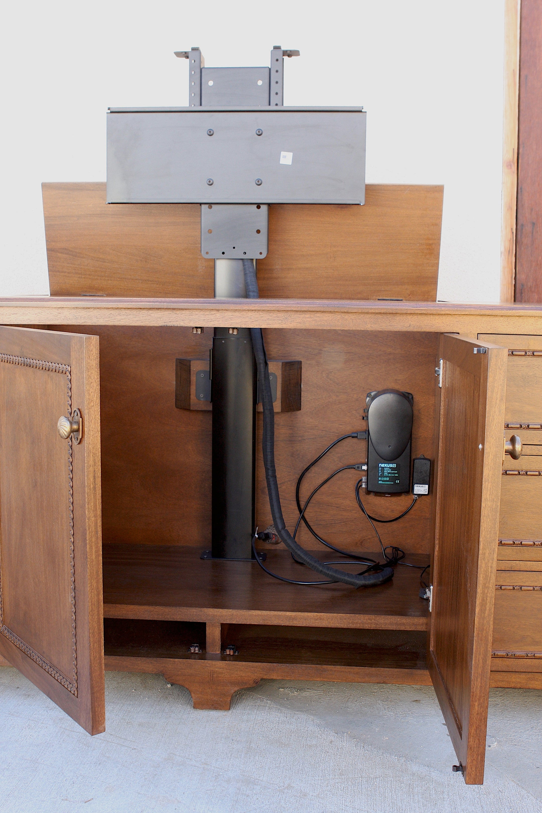 Cabinets With Motorized Tv Lifts Mortise Amp Tenon