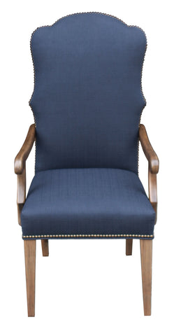 Scalloped Traditional Chair with Nailhead