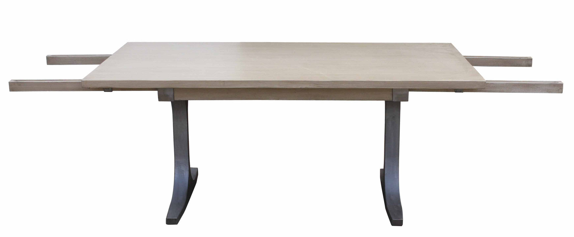 Custom Contemporary Urban Modern Metal And Reclaimed Wood Dining Table