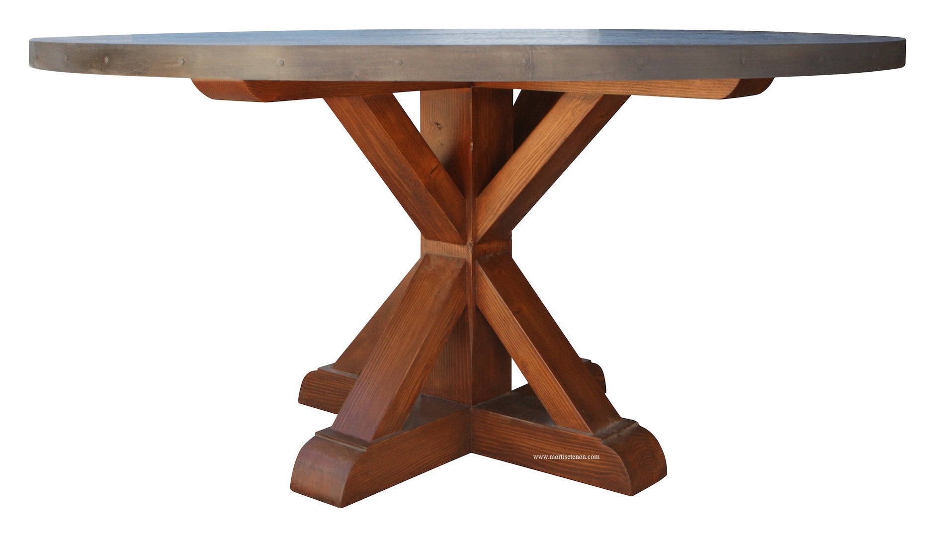 zinc dining room table. Hammered Zinc Round Dining Table Room