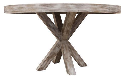 Arden Dining Table in Weathered Oak Wood