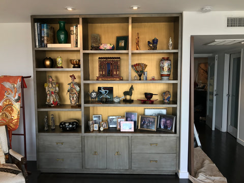Asian Inspired Bedroom Bookcase