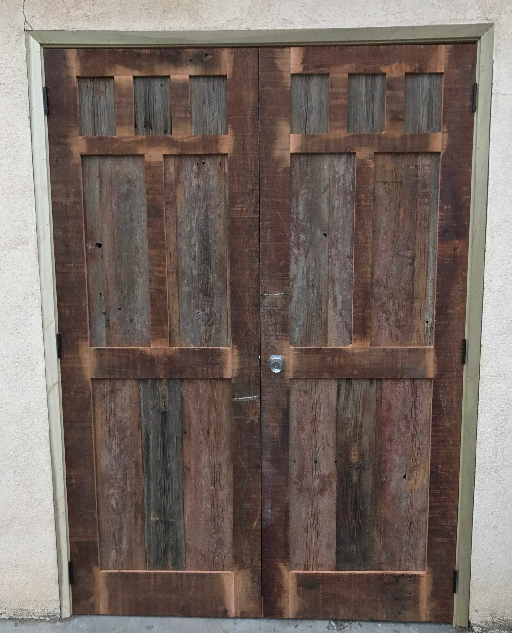 using in frame watch a youtube building steel wood reclaimed door barns barn doors