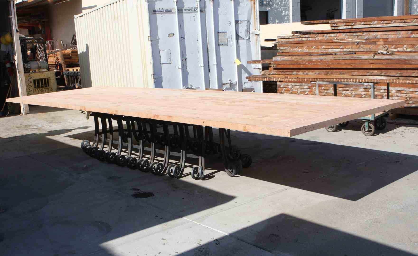 Very Big Custom Reclaimed Wood Dining Tables Mortise Tenon