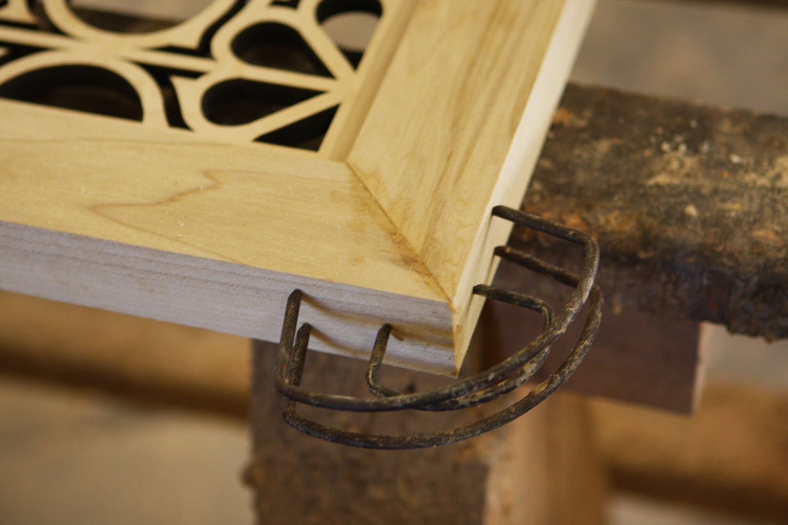 Glueing Up Mitered Doors With C-Clamps