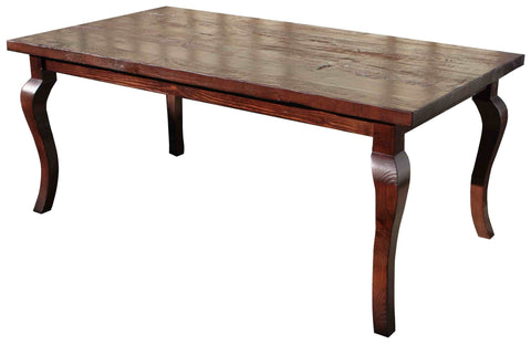 Cabriole Dining Table in Reclaimed Wood