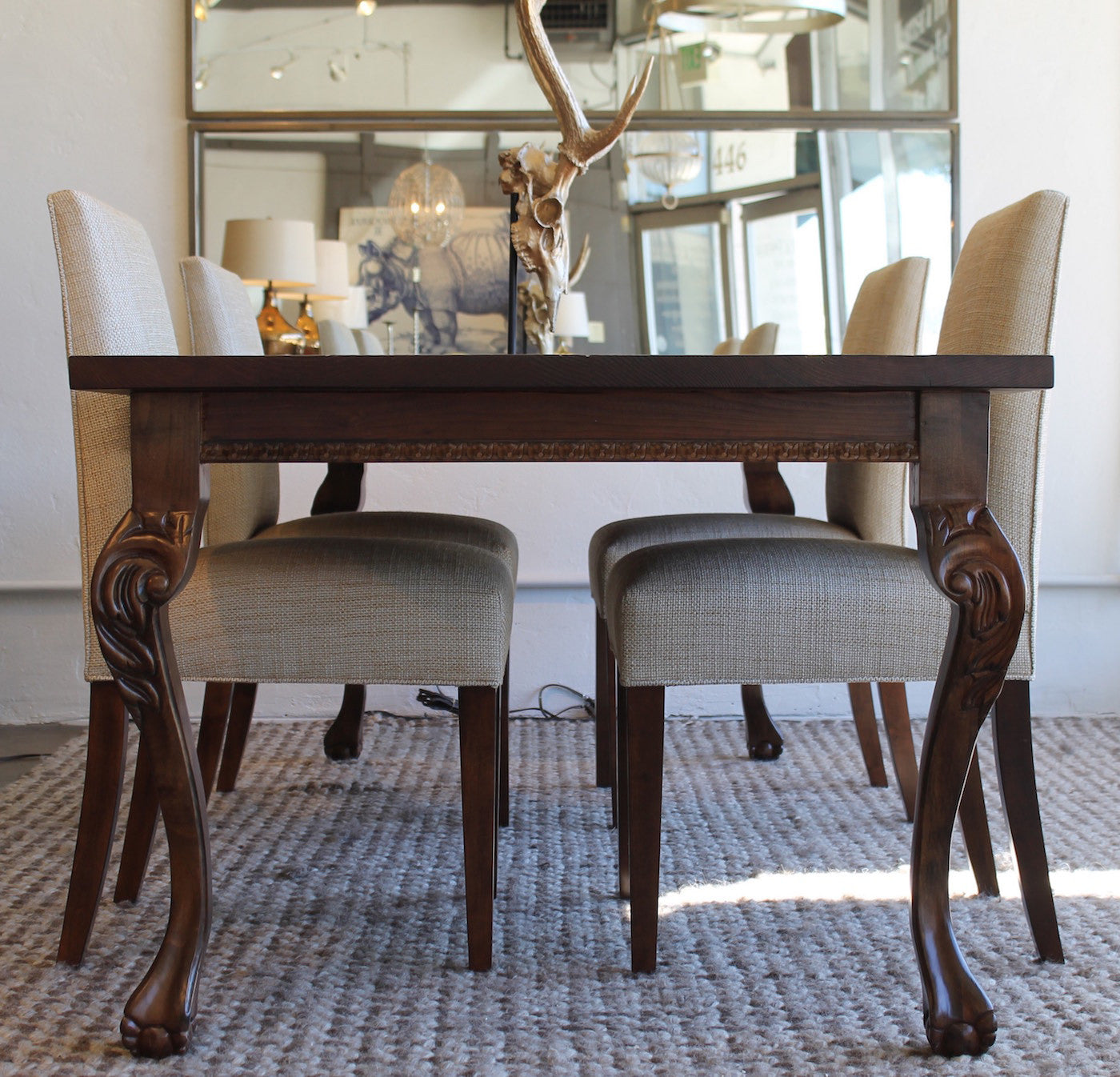 ... Hearst Reclaimed Wood Dining Table And Rosalind Chair