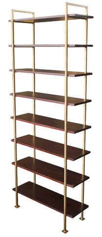 Mid-Century Modern Vintage Gold Chelsea Bookcase