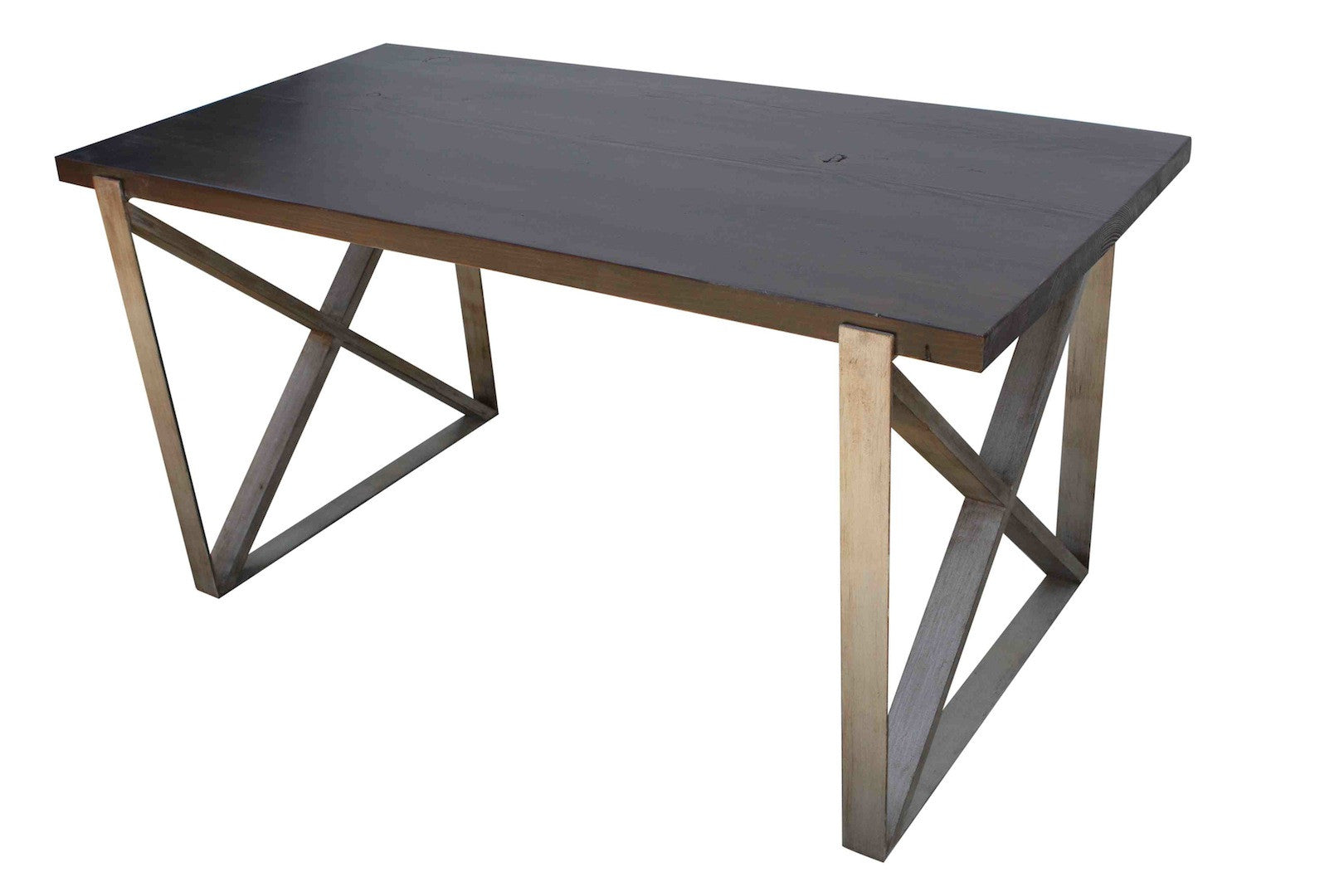 ... Chicago Industrial Dining Table In Reclaimed Wood ...