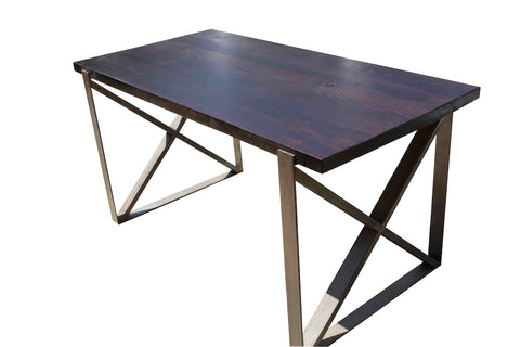 Chicago Industrial Dining Table in Reclaimed Wood
