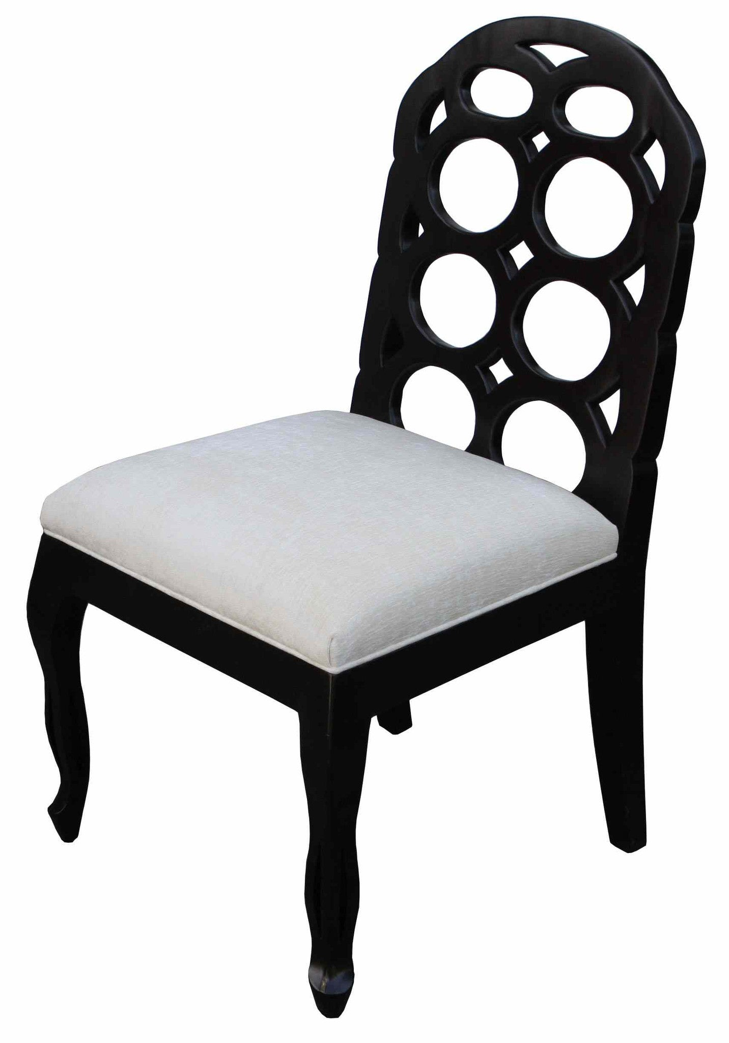 Black fabric dining chairs - Circle Dining Chair