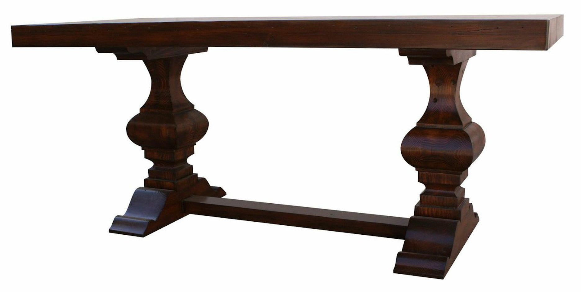 Spanish Colonial Trestle Dining Table – Mortise & Tenon