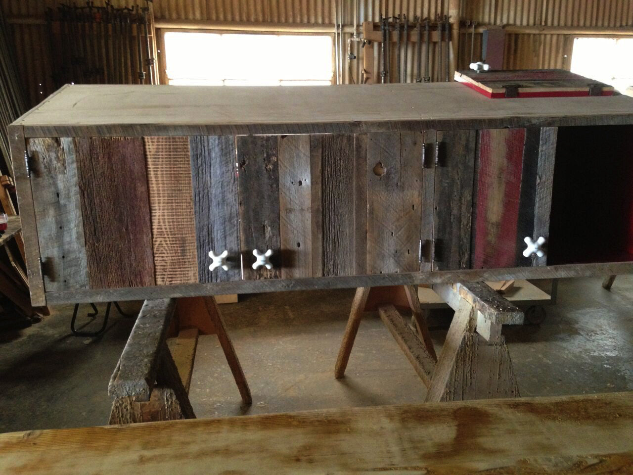 barnwood best mountainmodernlifecom decoration cabinets doors barns cabinet wood upcycled style sideboard designs barn