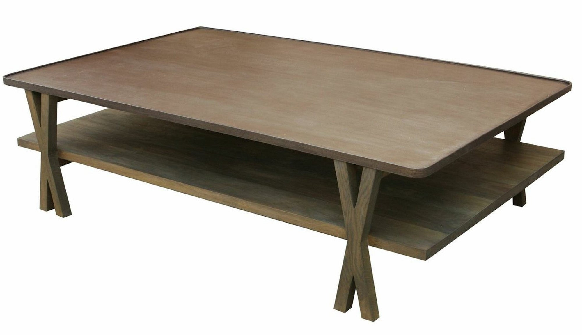 Contemporary Metal and White Oak Coffee Table – Mortise & Tenon