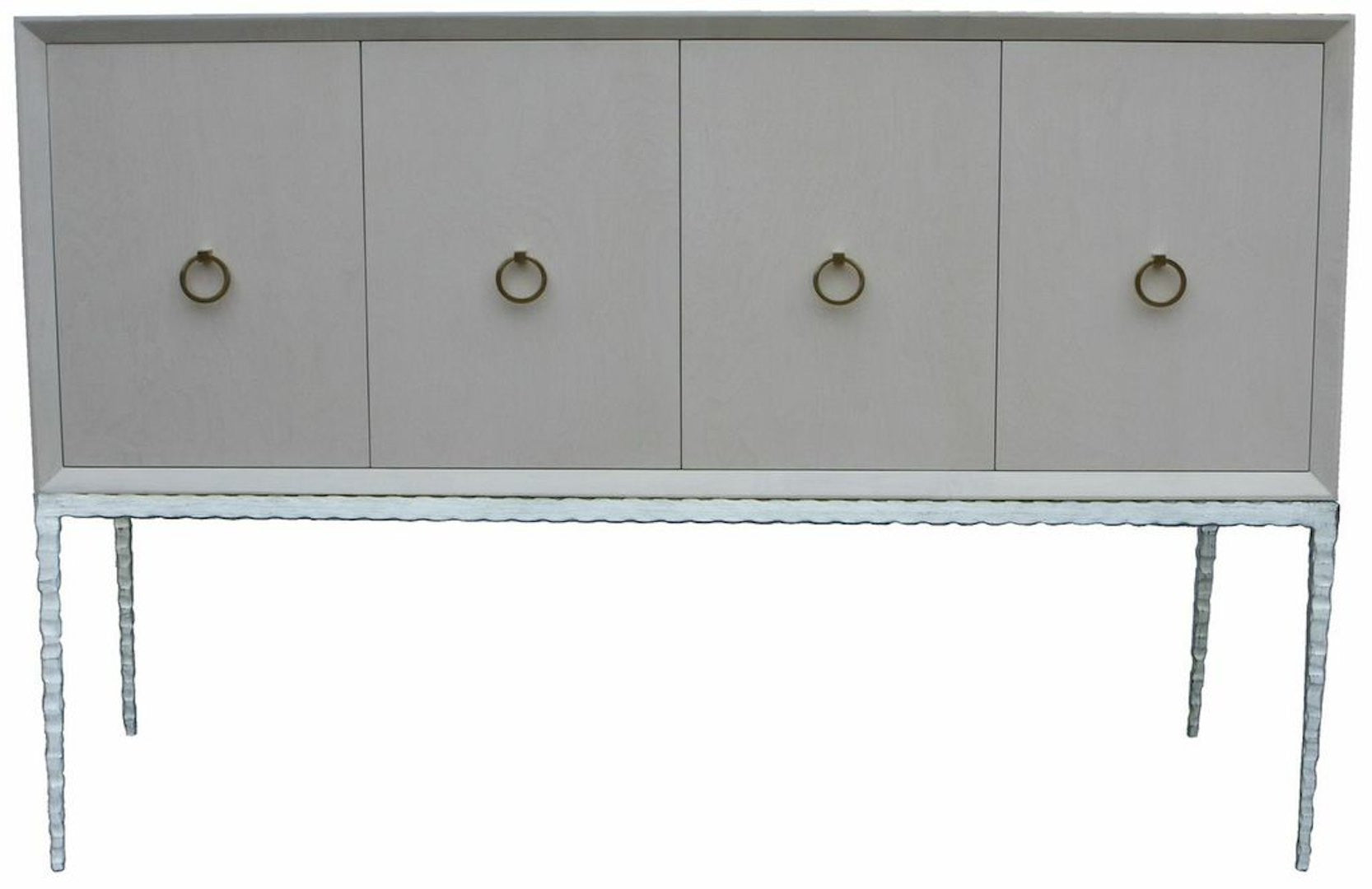Contemporary Meredith Credenza With Hammered Metal Legs
