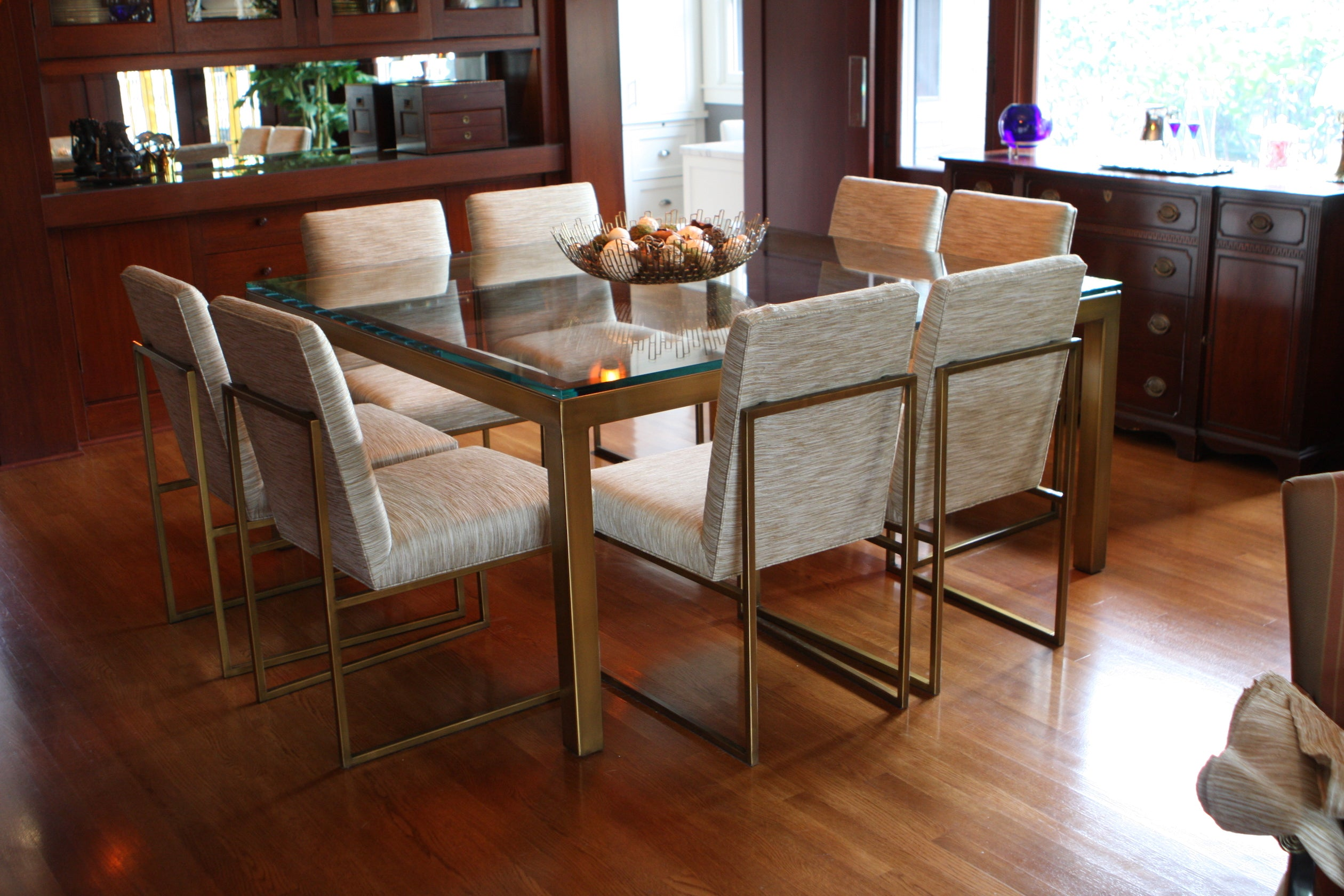 Craftsman Home Meets Modern Dining Room Set – Mortise & Tenon