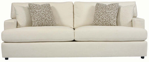Ashley Contemporary sofa with block arms and loose seat cushions