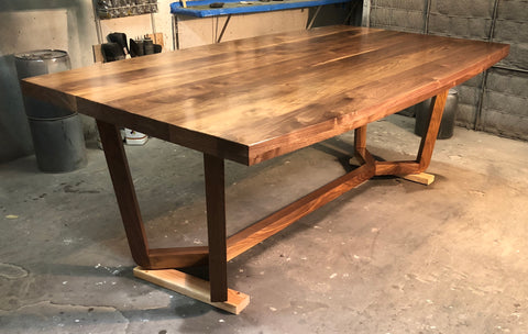Contemporary Walnut Dining Table