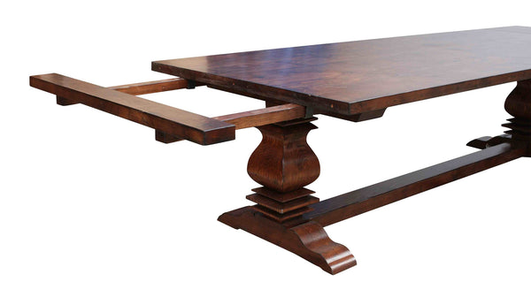 Anaheim reclaimed wood extension dining table mortise for Non wood dining table