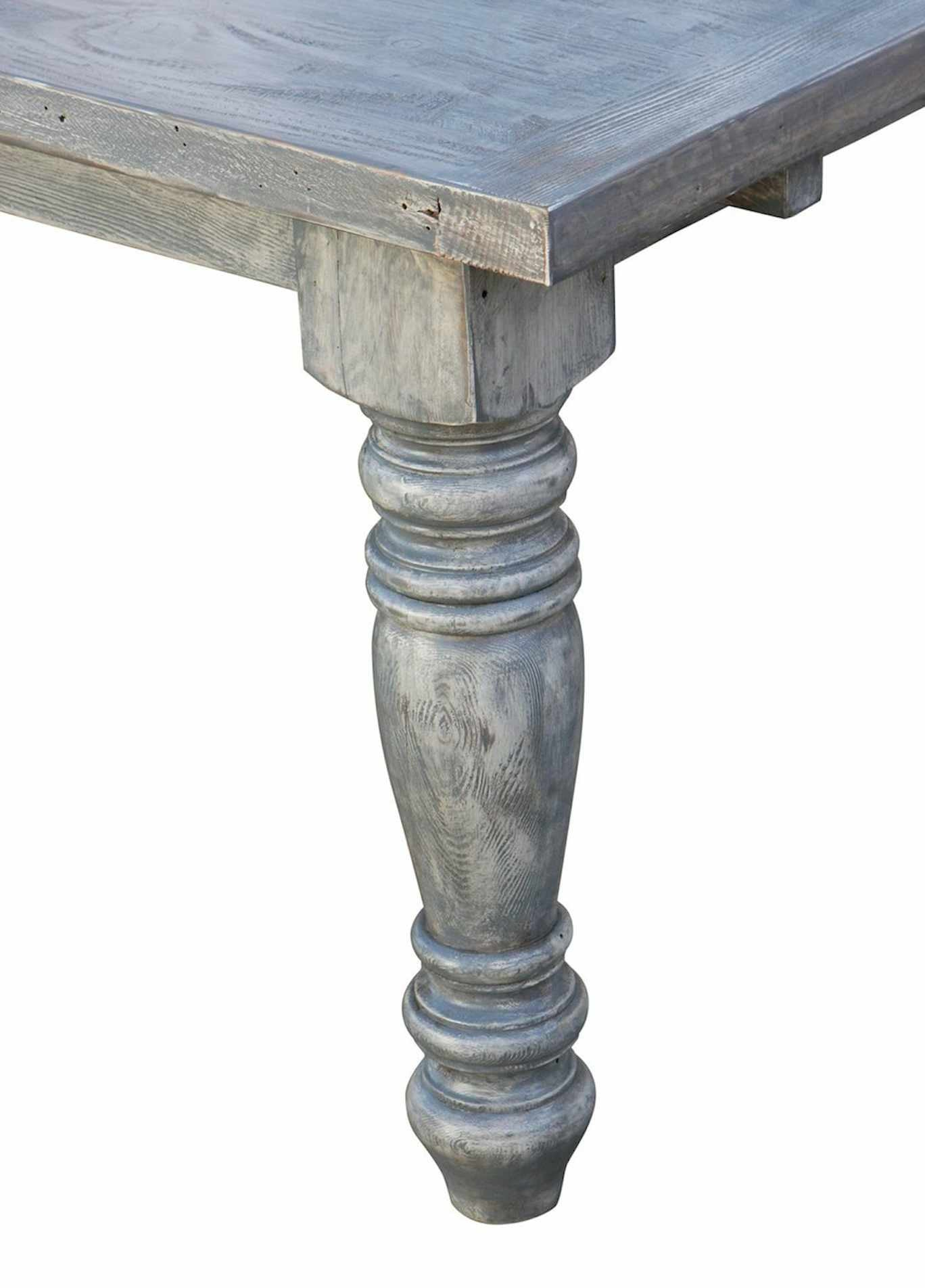 Sienna Reclaimed Wood Turned Leg Dining Table With