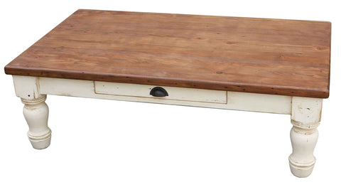 Country Farm Turned Leg Coffee Table