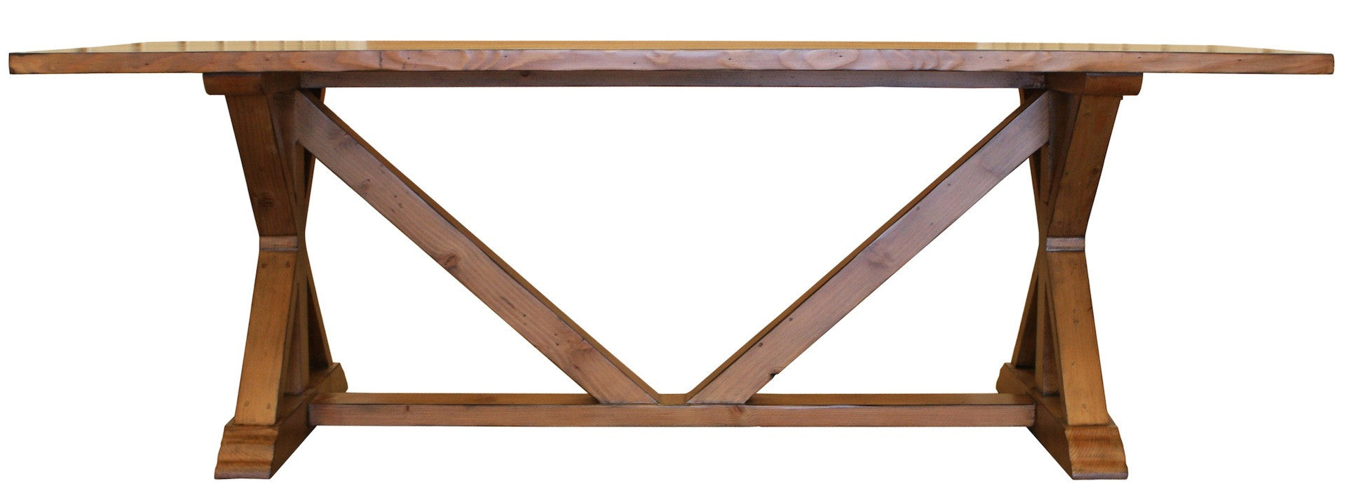 Handmade Country Trestle Refectory Dining Table