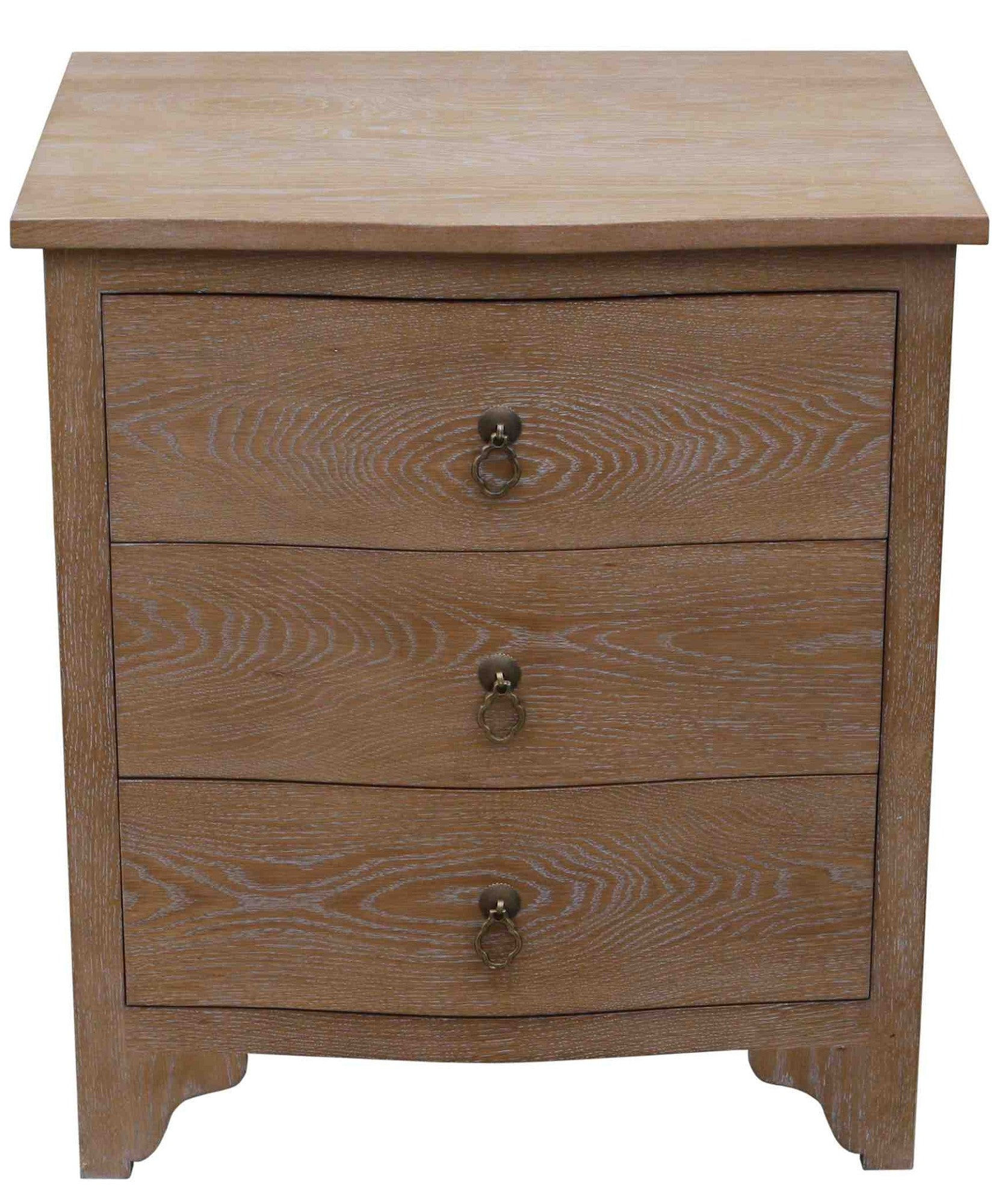 Cerused White Oak Side Tables