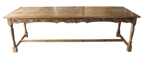 Carved Leg Dining Table