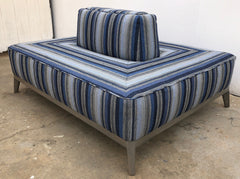 Custom Wrap Around Upholstered Ottoman
