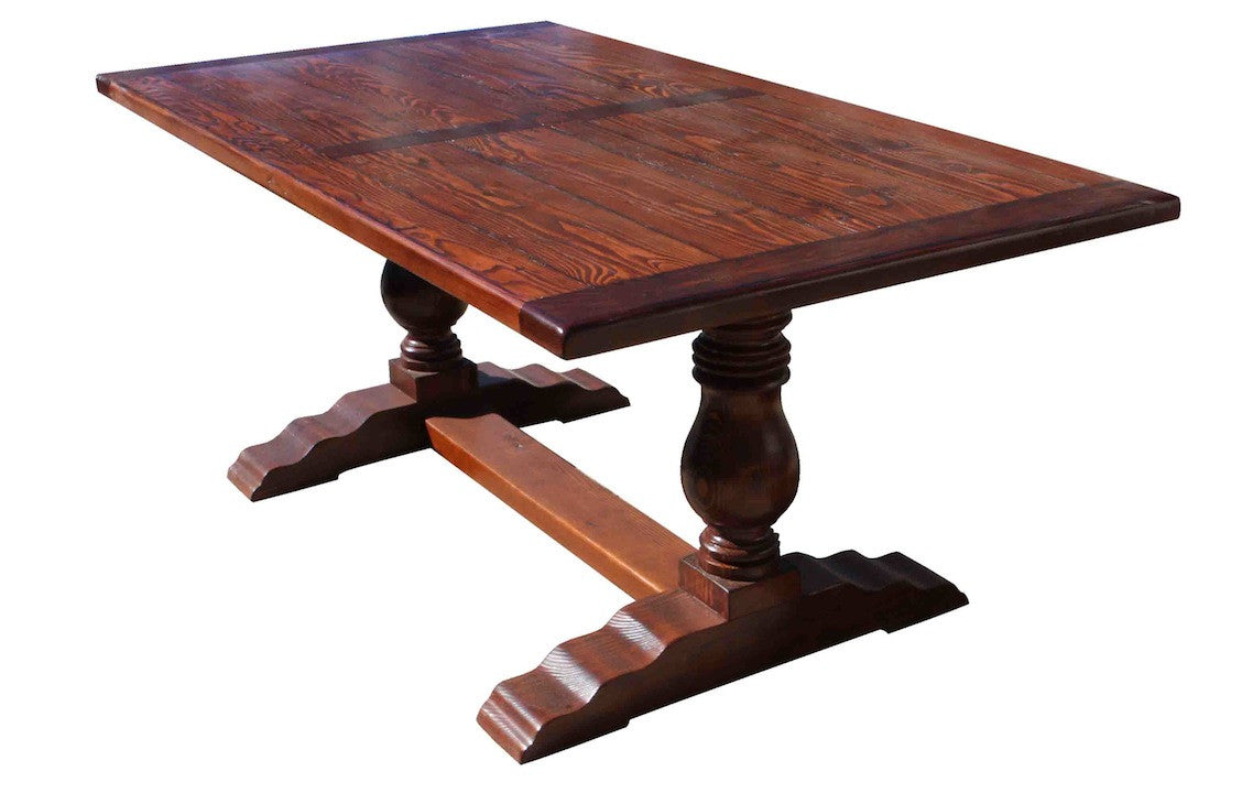 Collection of Hand Crafted Custom Trestle Dining  : custom farmhouse trestle dining table brown from image.jangjawokan.com size 1128 x 720 jpeg 80kB