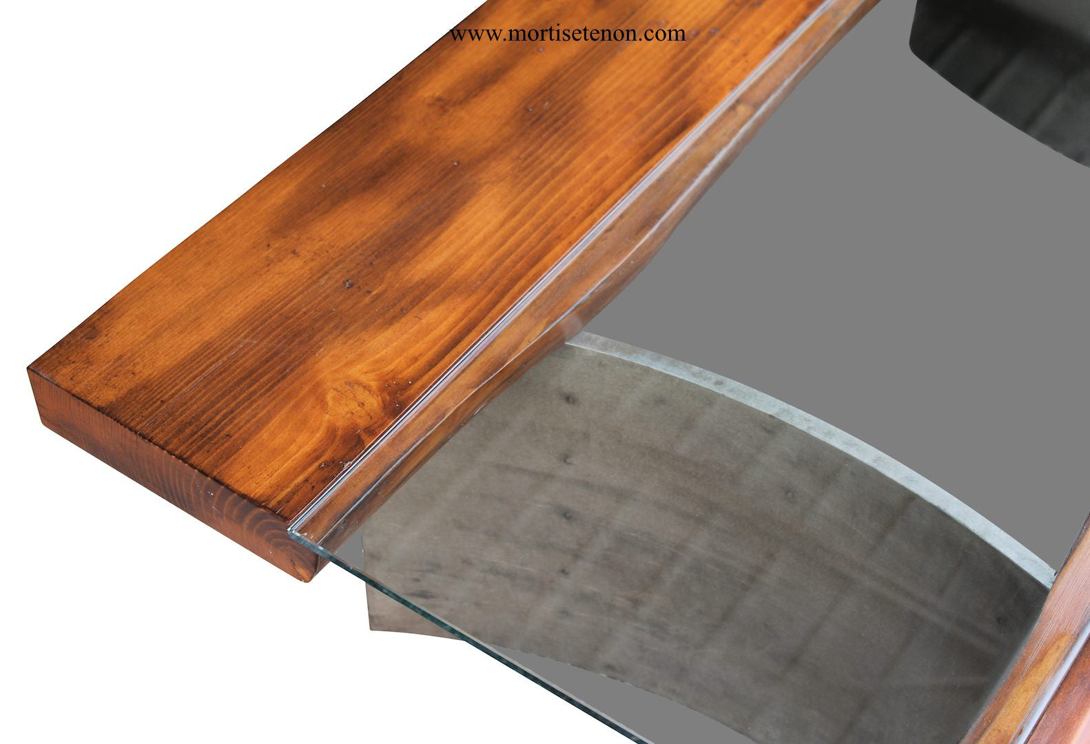 Reclaimed wood free edge coffee table with industrial for Where to find reclaimed wood for free