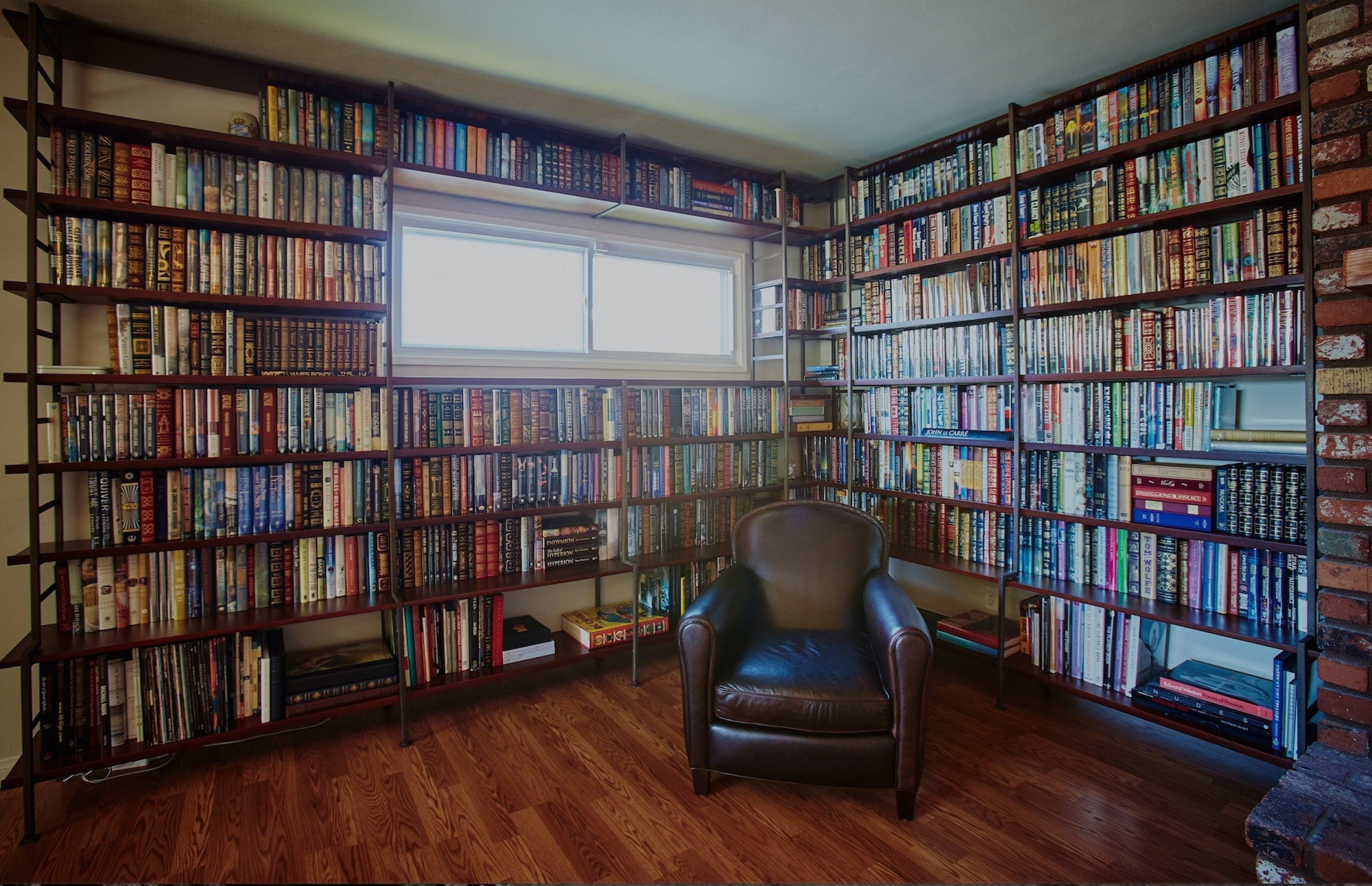 Wall Bookcase Part - 43: Custom Wall To Wall Bookcases