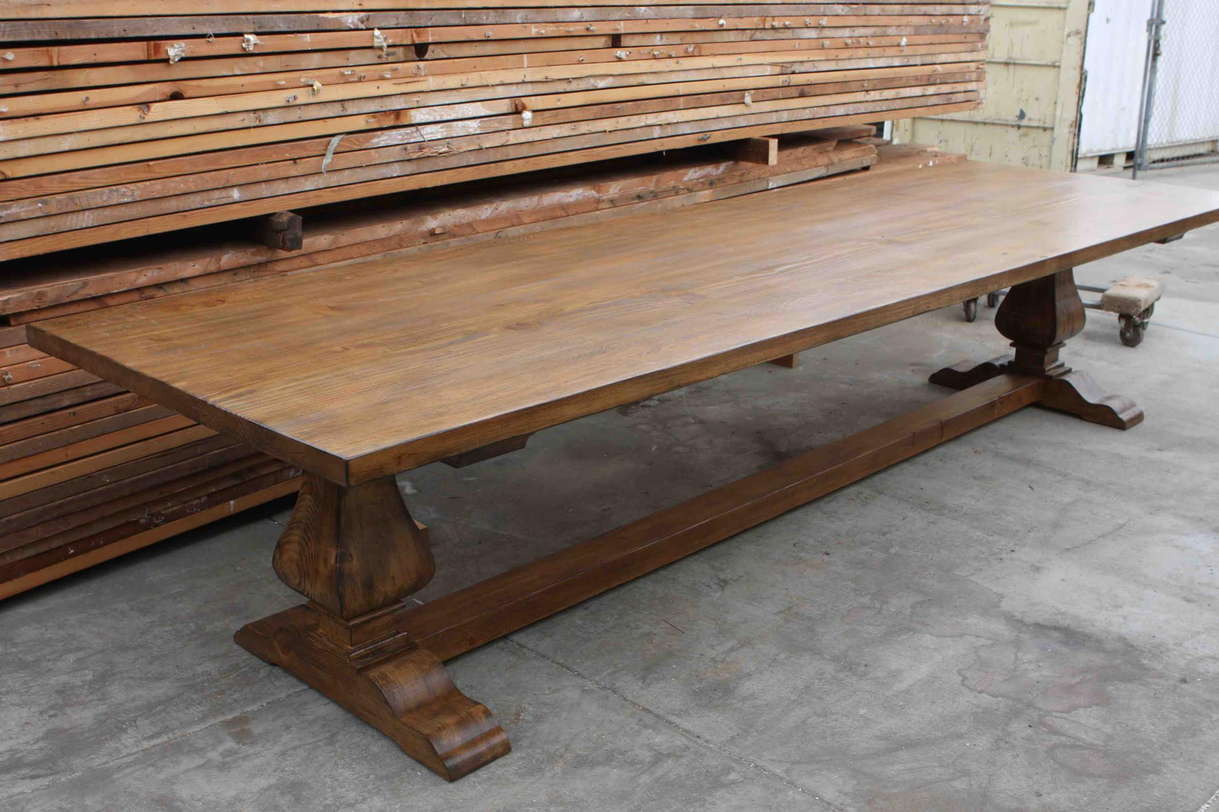 Segovia Reclaimed Wood Trestle Dining Table In Reclaimed Wood ...