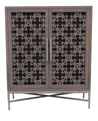 Custom Project-Media Cabinet featurning Laser Cut Panel Doors