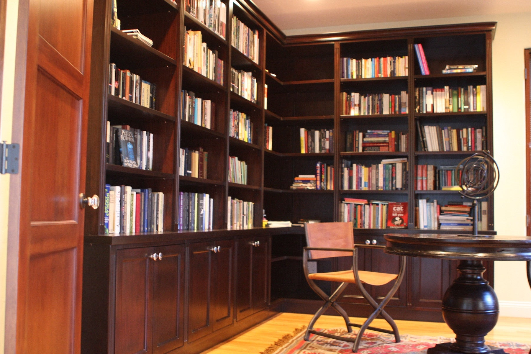 Custom Library Wall Unit Mortise Tenon