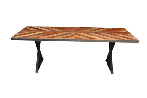 Chevron Top Dining Table