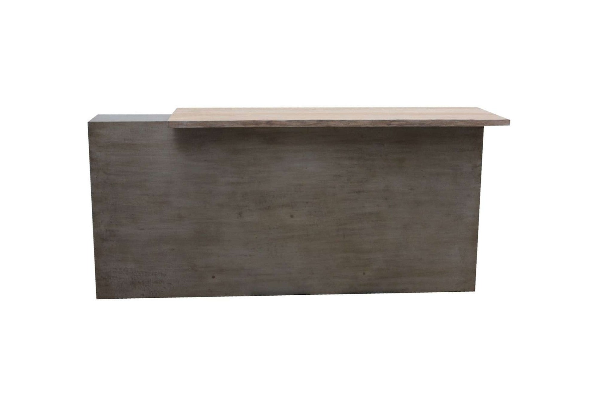 Custom Metal Reception Desk for a Yoga Studio