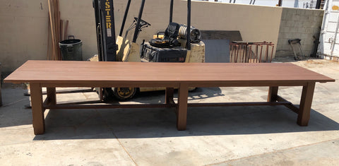 Redwood Outdoor Dining Table