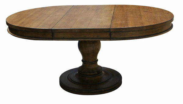 Westport Round Reclaimed Wood Extension Pedestal Table