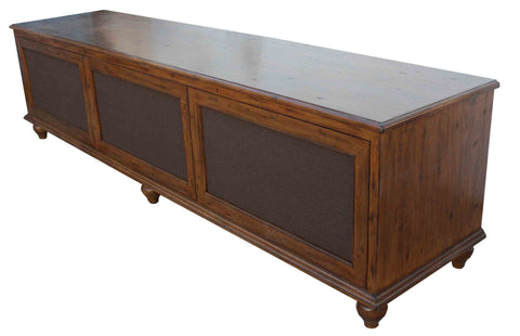 Custom Three Drawer Media Credenza