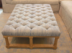 Custom Tufted Ottoman Coffee Table