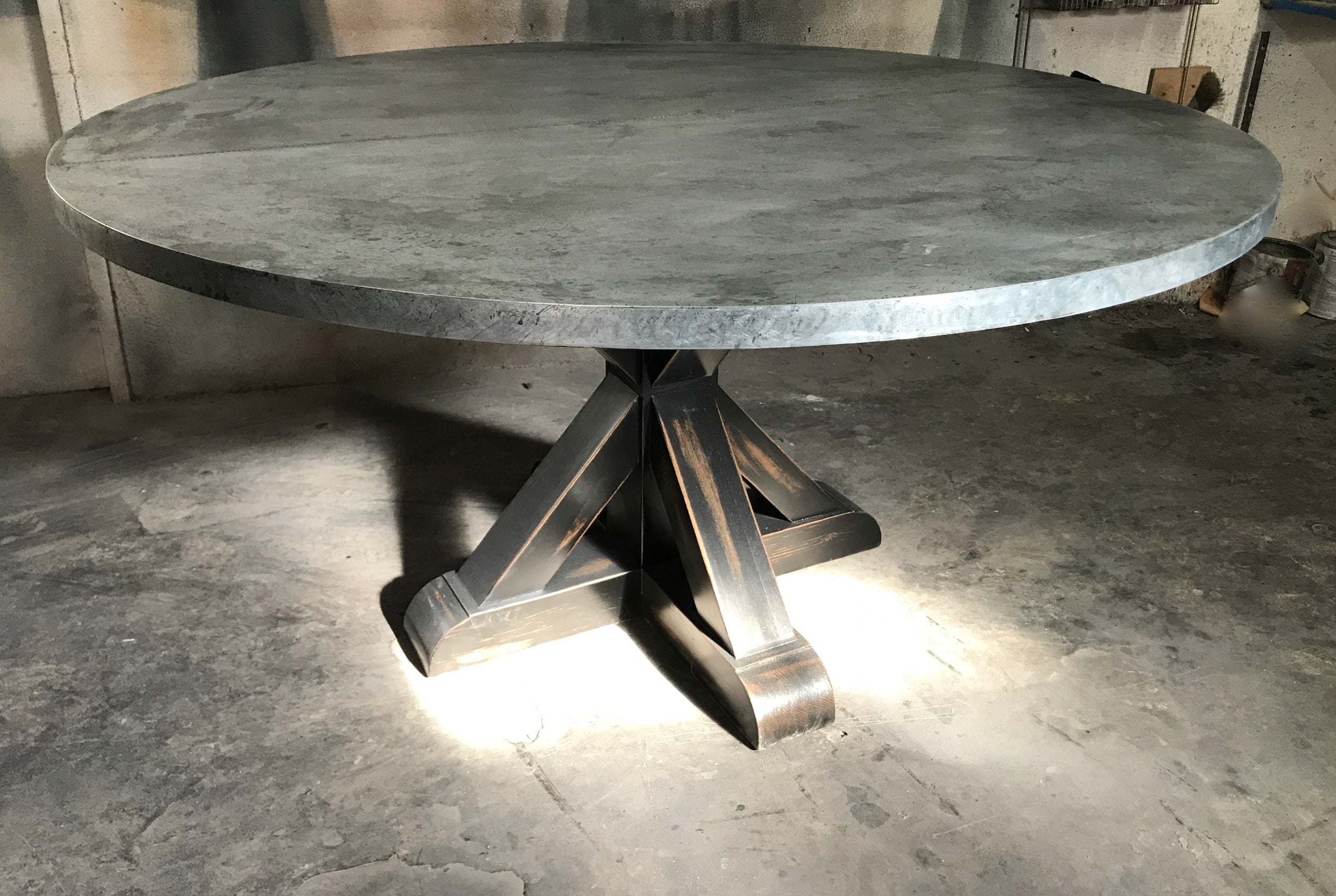 Fabulous Hand Finished Zinc Dining Tables Cjindustries Chair Design For Home Cjindustriesco